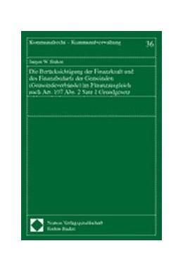 Abbildung von Die Berücksichtigung der Finanzkraft und des Finanzbedarfs der Gemeinden (Gemeindeverbände) im Finanzausgleich nach Art. 107 Abs. 2 Satz 1 Grundgesetz   2001   36