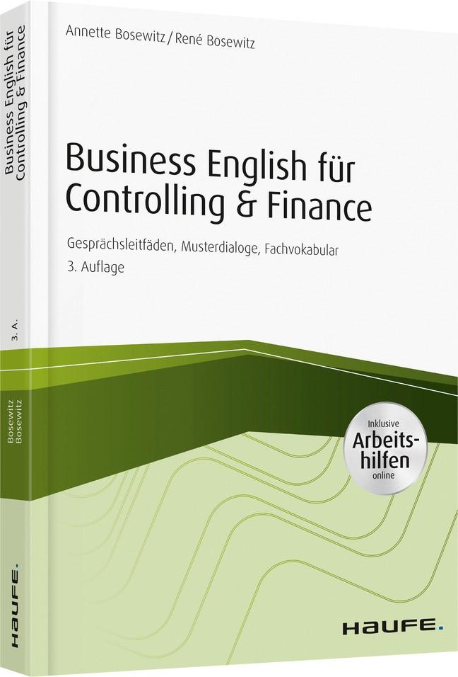 Business English für Controlling & Finance - inkl. Arbeitshilfen online   Bosewitz   3. Auflage 2019, 2019   Buch (Cover)