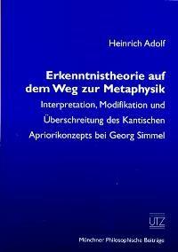 Abbildung von Adolf | Erkenntnistheorie auf dem Weg zur Metaphysik | 2002