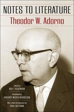 Abbildung von Adorno | Notes to Literature | 2019