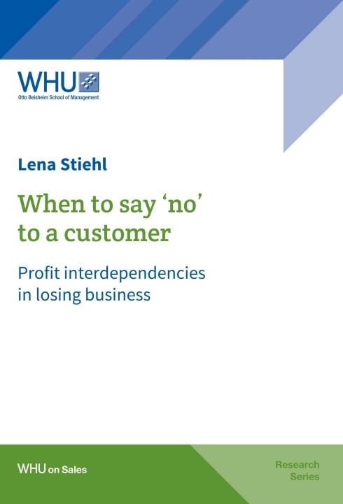 Abbildung von Stiehl | When to say 'no' to a customer | 1 | 2018