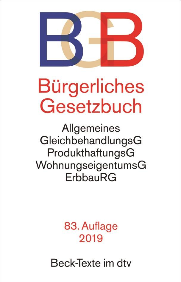 Bürgerliches Gesetzbuch: BGB | 83., überarbeitete Auflage, 2019 | Buch (Cover)