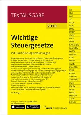 Abbildung von Wichtige Steuergesetze • 2019 | 68. Auflage | 2019 | mit Durchführungsverordnungen
