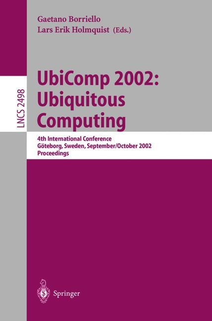 UbiComp 2002: Ubiquitous Computing | Borriello / Holmquist, 2002 | Buch (Cover)