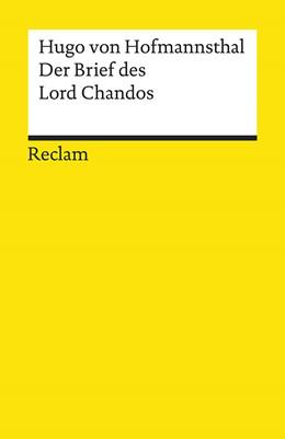 Abbildung von Hofmannsthal / Lönker | Der Brief des Lord Chandos | 2019