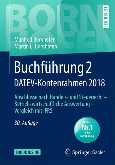 Buchführung 2 DATEV-Kontenrahmen 2018   Bornhofen   30., überarb. Aufl. 2019, 2019   Buch (Cover)