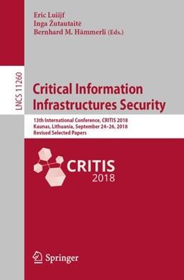Abbildung von Luiijf / Žutautaite   Critical Information Infrastructures Security   1. Auflage   2018   11260   beck-shop.de