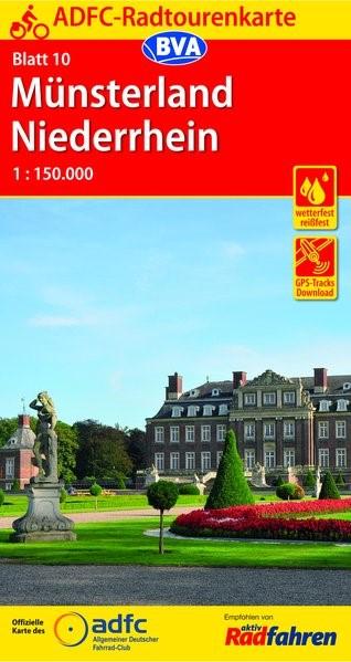 Abbildung von ADFC-Radtourenkarte 10 Münsterland Niederrhein 1:150.000 | 11. Auflage | 2019