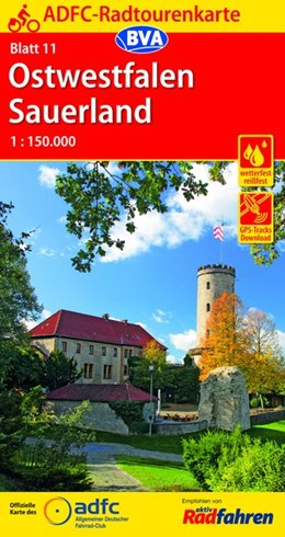Abbildung von ADFC-Radtourenkarte 11 Ostwestfalen Sauerland 1:150.000 | 13. Auflage | 2019