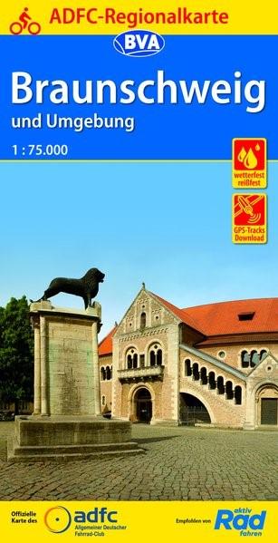 Abbildung von ADFC-Regionalkarte Braunschweig und Umgebung 1:75.000   6. Auflage   2019