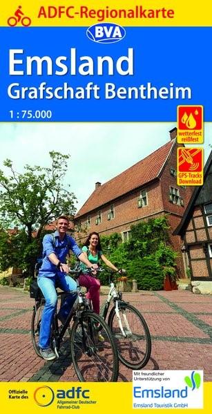 Abbildung von ADFC-Regionalkarte Emsland Grafschaft Bentheim mit Tagestouren-Vorschlägen 1:75.000 | 2. Auflage | 2019