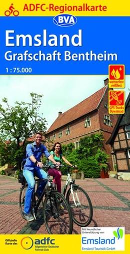 Abbildung von ADFC-Regionalkarte Emsland Grafschaft Bentheim mit Tagestouren-Vorschlägen 1:75.000 | 2. Auflage | 2019 | Mit Internationalem Naturpark ...