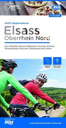 Abbildung von ADFC-Regionalkarte Elsass Oberrhein Nord 1:75.000 | 1. Auflage | 2019 | Die schönsten Genuss-Radtouren...