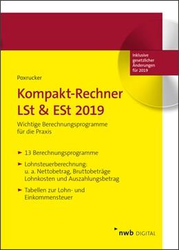 Abbildung von Poxrucker | Kompakt-Rechner LSt & ESt 2019 | 1. Auflage | 2019 | beck-shop.de