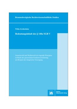 Abbildung von Kreikebohm | Bedeutungsinhalt des §140a SGB V | 1. Auflage | 2018 | beck-shop.de