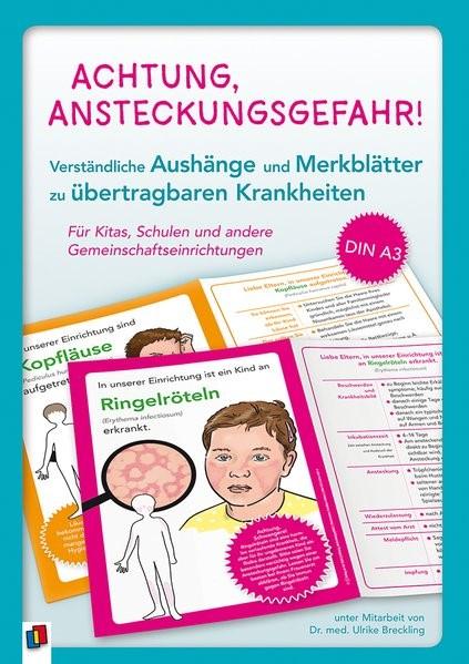 Abbildung von Achtung, Ansteckungsgefahr! - Verständliche Aushänge und Merkblätter zu übertragbaren Krankheiten | 2019