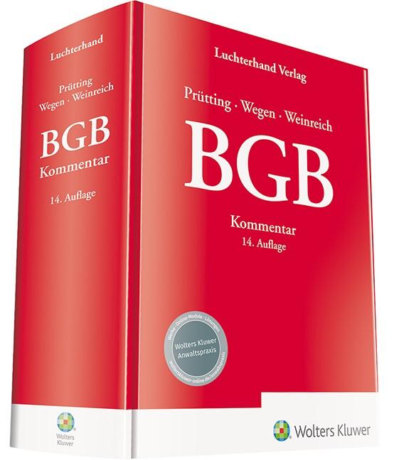 BGB Kommentar | Prütting / Wegen / Weinreich (Hrsg.) | 14. Auflage, 2019 | Buch (Cover)