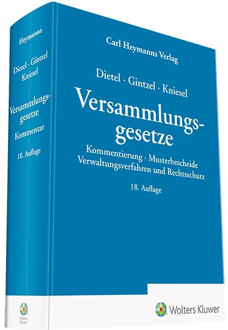 Versammlungsgesetze | Dietel / Gintzel / Kniesel | 18. Auflage, 2019 | Buch (Cover)