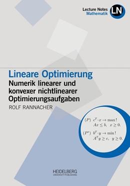 Abbildung von Rannacher | Lineare Optimierung | 1. Auflage | 2018 | beck-shop.de