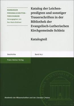 Abbildung von Katalog der Leichenpredigten und sonstiger Trauerschriften in der Bibliothek der Evangelisch-Lutherischen Kirchgemeinde Schleiz | 2018 | 60