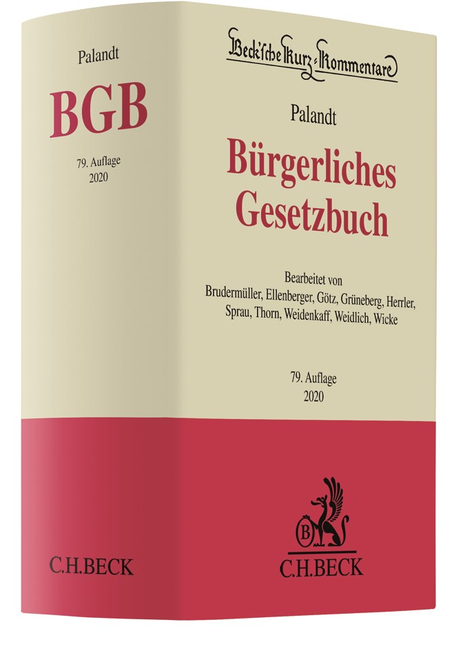 Bürgerliches Gesetzbuch: BGB | Palandt | 79. Auflage, 2019 | Buch (Cover)