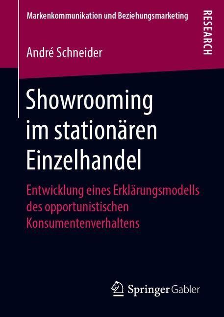 Showrooming im stationären Einzelhandel   Schneider, 2019   Buch (Cover)