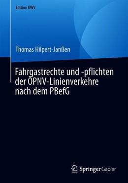 Abbildung von Hilpert-Janßen | Fahrgastrechte und -pflichten der ÖPNV-Linienverkehre nach dem PBefG | 1. Auflage | 2019 | beck-shop.de