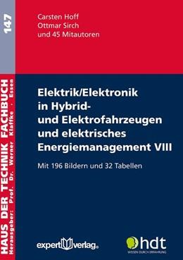 Abbildung von Hoff / Sirch | Elektrik/Elektronik in Hybrid- und Elektrofahrzeugen und elektrisches Energiemanagement VIII | 2018