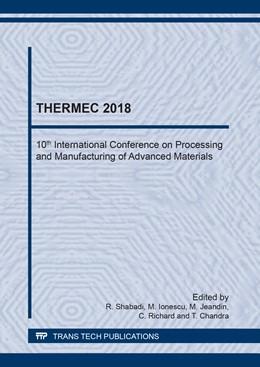 Abbildung von Shabadi / Ionescu | THERMEC 2018 | 1. Auflage | 2019 | Volume 941 | beck-shop.de