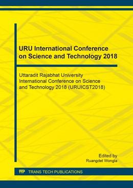 Abbildung von Wongla | URU International Conference on Science and Technology 2018 | 2019 | Uttaradit Rajabhat University ... | Volume 886