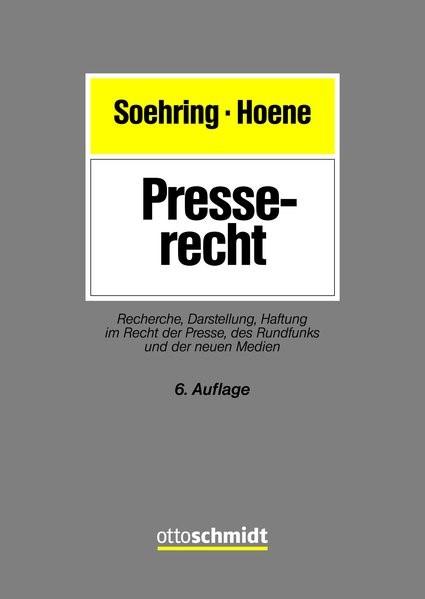 Abbildung von Soehring / Hoene | Presserecht | 6. Auflage | 2019