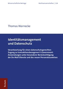 Abbildung von Warnecke   Identitätsmanagement und Datenschutz   1. Auflage   2019   beck-shop.de