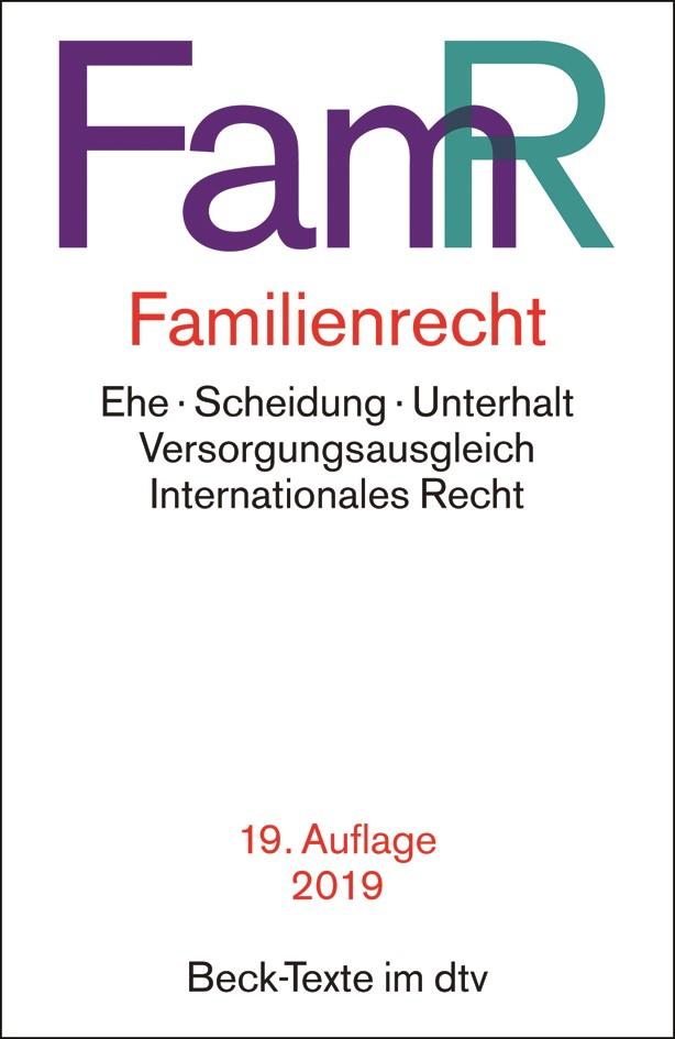 Abbildung von Familienrecht: FamR | 19. Auflage | 2019