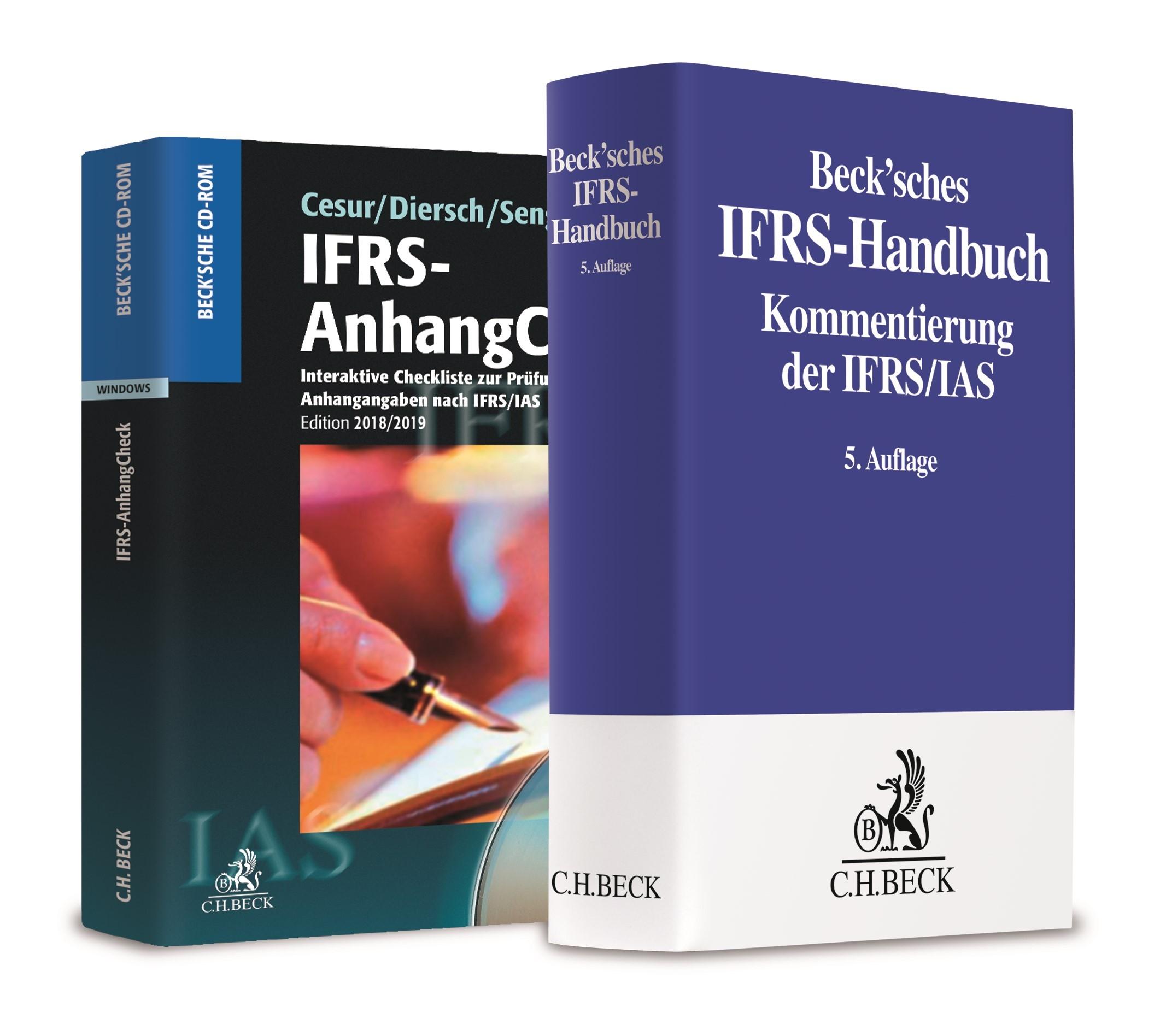 Beck'sches IFRS-Handbuch 5. Auflage 2016 + IFRS-AnhangCheck 2018/2019 • Set | Cesur / Diersch / Senger, 2019 (Cover)