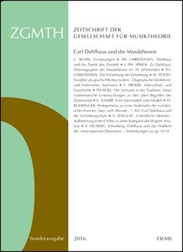 Abbildung von Rohringer   ZGMTH - Zeitschrift der Gesellschaft für Musiktheorie   1. Auflage   2019   beck-shop.de