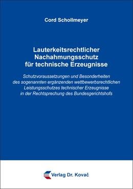 Abbildung von Schollmeyer | Lauterkeitsrechtlicher Nachahmungsschutz für technische Erzeugnisse | 2019 | Schutzvoraussetzungen und Beso... | 151