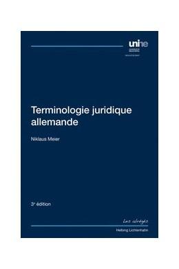 Abbildung von Meier | Terminologie juridique allemande | 3. Auflage | 2019