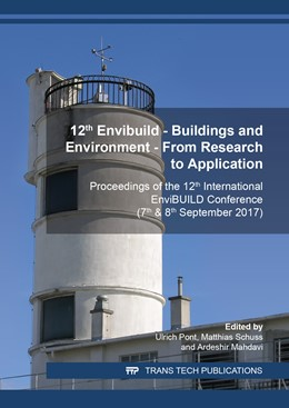 Abbildung von Pont / Schuss / Mahdavi | 12th Envibuild ? Buildings and Environment ? From Research to Application | 2019 | Proceedings of the 12th intern... | Volume 887