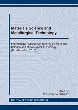 Abbildung von Radionov | Materials Science and Metallurgical Technology | 1. Auflage | 2019 | Volume 946 | beck-shop.de