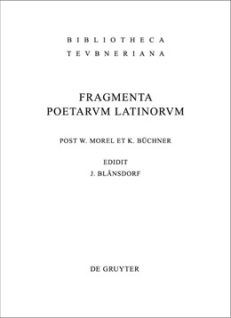 Abbildung von Blänsdorf / Büchner / Morel | Fragmenta poetarum Latinorum epicorum et lyricorum | 4th rev. ed. | 2010
