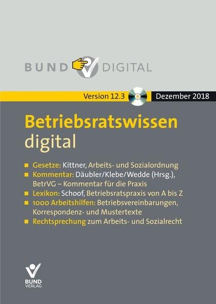 Betriebsratswissen digital Version 12.3   12. Auflage, 2019 (Cover)