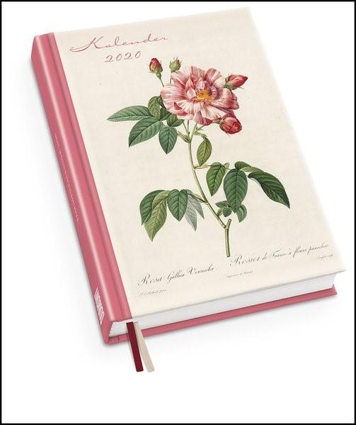 Redoutés Rosen Taschenkalender 2020 - Terminplaner mit Wochenkalendarium - Format 11,3 x 16,3 cm   Dumont Kalenderverlag, 2019 (Cover)