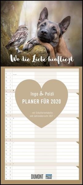 Wo die Liebe hinfliegt - Ingo, Poldi und Freunde - Planer 2020 - Mit 3 Spalten | Dumont Kalenderverlag, 2019 (Cover)