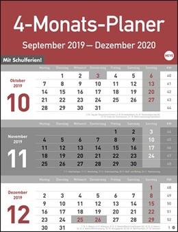 Abbildung von 4-Monats-Planer 2020 | 2019