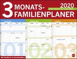 Abbildung von 3-Monats Familienplaner 2020 | 2019 | Jedes Quartal auf einen Blick