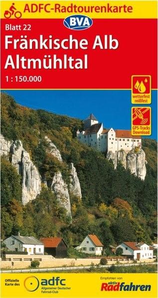Abbildung von ADFC-Radtourenkarte 22 Fränkische Alb Altmühltal 1:150.000 | 13. Auflage | 2019