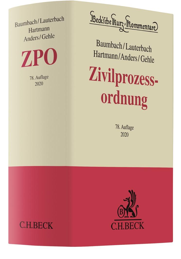 Abbildung von Baumbach / Lauterbach / Anders / Gehle   Zivilprozessordnung: ZPO   78. Auflage   2020