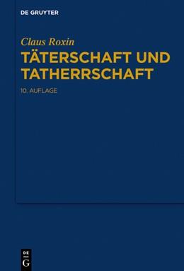 Abbildung von Roxin | Täterschaft und Tatherrschaft | 10. Auflage | 2019 | beck-shop.de