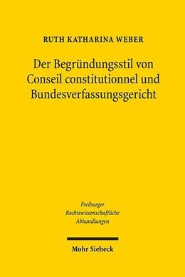Abbildung von Weber | Der Begründungsstil von Conseil constitutionnel und Bundesverfassungsgericht | 1. Auflage | 2019 | 26 | beck-shop.de