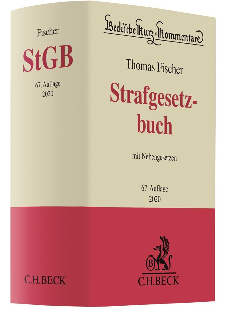 Abbildung von Fischer | Strafgesetzbuch: StGB | 67. Auflage | 2020